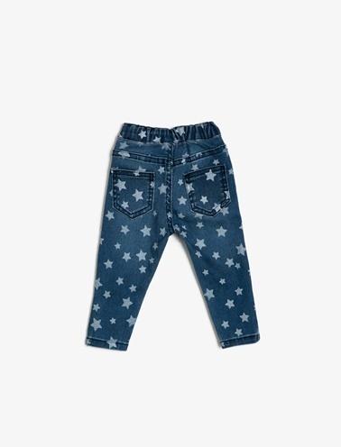 Koton Kids Cep Detaylı Jean Pantolon Mavi